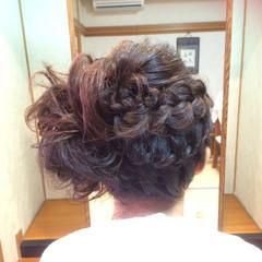 まとめ髪 セミロング パーティ 結婚式 ヘアスタイルや髪型の写真・画像