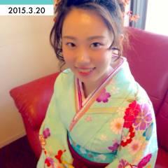 花火大会 着物 ヘアアレンジ お祭り ヘアスタイルや髪型の写真・画像
