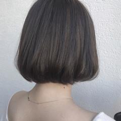 ストリート ボブ イルミナカラー ハイライト ヘアスタイルや髪型の写真・画像