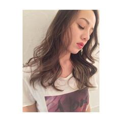 インナーカラー ロング ハイライト 外国人風カラー ヘアスタイルや髪型の写真・画像