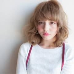 ミディアム ガーリー ヘアスタイルや髪型の写真・画像