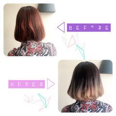 ワンカール ブリーチ グラデーションカラー アッシュ ヘアスタイルや髪型の写真・画像