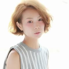 コンサバ モテ髪 ゆるふわ ショート ヘアスタイルや髪型の写真・画像