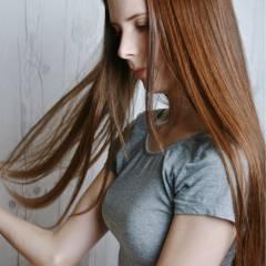 外国人風 大人女子 かっこいい ロング ヘアスタイルや髪型の写真・画像