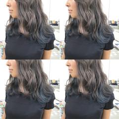 インナーカラー ミディアム ストリート 外国人風カラー ヘアスタイルや髪型の写真・画像