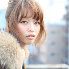 大人かわいい ミディアム 簡単ヘアアレンジ ヘアアレンジ ヘアスタイルや髪型の写真・画像
