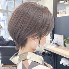 ショートボブ ウルフカット モード 小顔ショート ヘアスタイルや髪型の写真・画像