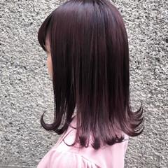 ガーリー ラベンダーピンク 透明感 外国人風カラー ヘアスタイルや髪型の写真・画像