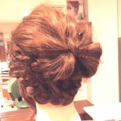 編み込み フェミニン ヘアアレンジ モテ髪 ヘアスタイルや髪型の写真・画像