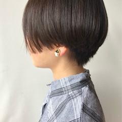 黒髪 ハンサムショート ベリーショート ショート ヘアスタイルや髪型の写真・画像