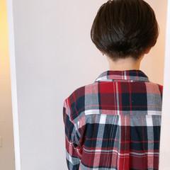 刈り上げショート 小顔ショート モード ショート ヘアスタイルや髪型の写真・画像