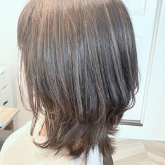 ナチュラル可愛い 3Dハイライト ハイライト ミディアム ヘアスタイルや髪型の写真・画像