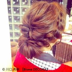 モテ髪 編み込み 愛され ヘアアレンジ ヘアスタイルや髪型の写真・画像
