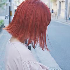 イルミナカラー ハロウィン ストリート 切りっぱなし ヘアスタイルや髪型の写真・画像