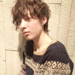 大人女子 パーマ アッシュ レイヤーカット ヘアスタイルや髪型の写真・画像