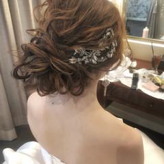 パーティー 結婚式ヘアアレンジ ふわふわヘアアレンジ 結婚式 ヘアスタイルや髪型の写真・画像