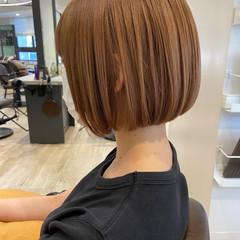 切りっぱなしボブ モテボブ ショートボブ ボブ ヘアスタイルや髪型の写真・画像
