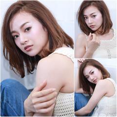 外国人風カラー フェミニン アッシュベージュ デート ヘアスタイルや髪型の写真・画像