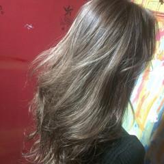 セミロング 透明感 ミルクティー モード ヘアスタイルや髪型の写真・画像