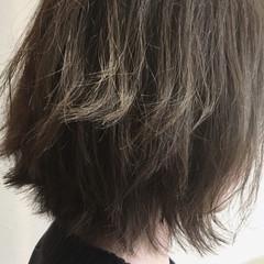 ナチュラル ボブ かわいい アッシュ ヘアスタイルや髪型の写真・画像