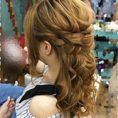 結婚式 フェミニン ヘアアレンジ 上品 ヘアスタイルや髪型の写真・画像