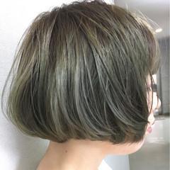 アッシュグレージュ ワンカール アッシュ ガーリー ヘアスタイルや髪型の写真・画像