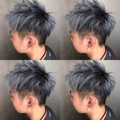 ストリート ショート メンズカラー メンズカット ヘアスタイルや髪型の写真・画像