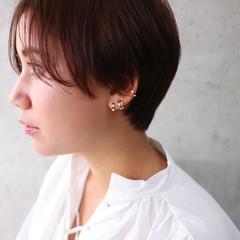 外国人風 ボーイッシュ ショート ハイライト ヘアスタイルや髪型の写真・画像