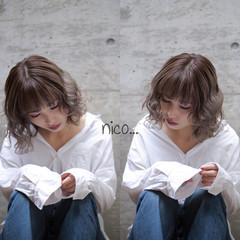 モード 重ため ミディアム 夏 ヘアスタイルや髪型の写真・画像