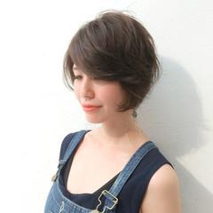外国人風 小顔 アッシュ ストリート ヘアスタイルや髪型の写真・画像