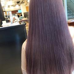 デート バイオレットカラー 韓国ヘア 韓国風ヘアー ヘアスタイルや髪型の写真・画像