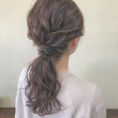 ブラウンベージュ コンサバ 抜け感 ヘアアレンジ ヘアスタイルや髪型の写真・画像