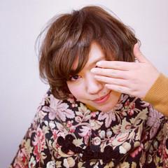 春 ガーリー ボブ 前髪あり ヘアスタイルや髪型の写真・画像