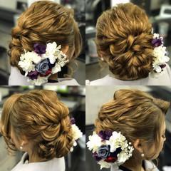 ヘアアレンジ アップスタイル ロング ゆるふわ ヘアスタイルや髪型の写真・画像