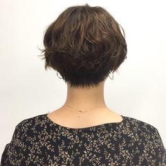 ナチュラル ハンサムショート ショート ショートバング ヘアスタイルや髪型の写真・画像