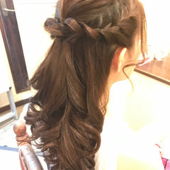 ショート 編み込み フェミニン 結婚式 ヘアスタイルや髪型の写真・画像