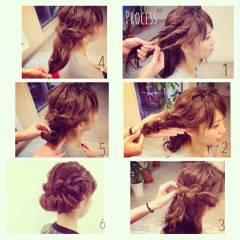 簡単ヘアアレンジ 簡単 ショート アップスタイル ヘアスタイルや髪型の写真・画像