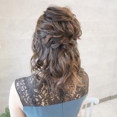 デート アンニュイほつれヘア 結婚式 セミロング ヘアスタイルや髪型の写真・画像