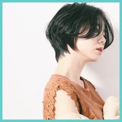 ショート デート ナチュラル ショートヘア ヘアスタイルや髪型の写真・画像