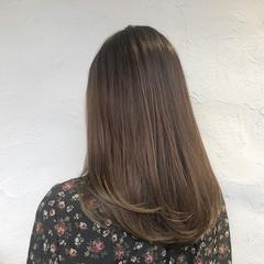 髪質改善 セミロング デート ナチュラル ヘアスタイルや髪型の写真・画像