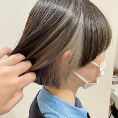 ショート インナーカラー マッシュヘア ショートヘア ヘアスタイルや髪型の写真・画像