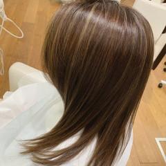 ハイライト 暗髪女子 社会人 アッシュベージュ ヘアスタイルや髪型の写真・画像