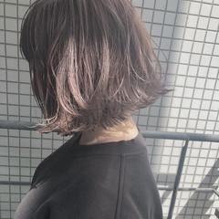 ボブ 外国人風 ハイライト ローライト ヘアスタイルや髪型の写真・画像