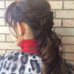 ゆるふわ 外国人風 編み込み 大人かわいい ヘアスタイルや髪型の写真・画像