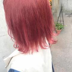 ピンク ピンクアッシュ ハイトーン ガーリー ヘアスタイルや髪型の写真・画像