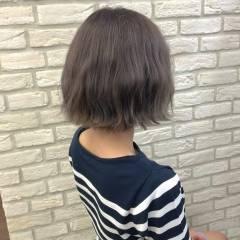 春 パープル ガーリー アッシュ ヘアスタイルや髪型の写真・画像