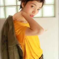 ショート ニュアンス 大人女子 アッシュ ヘアスタイルや髪型の写真・画像