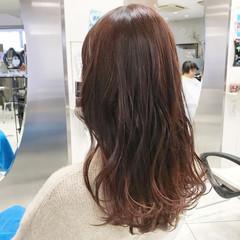 ロング 春 フェミニン グラデーションカラー ヘアスタイルや髪型の写真・画像