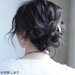 ボブ 女子会 簡単ヘアアレンジ ショート ヘアスタイルや髪型の写真・画像