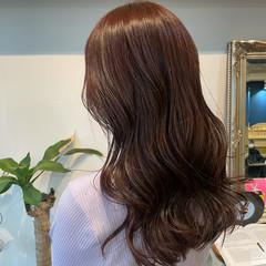 ガーリー ピンクブラウン 韓国風ヘアー 韓国ヘア ヘアスタイルや髪型の写真・画像